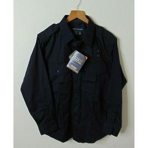 5.11 Tactical M Patrol Duty Uniform Shirt Blue